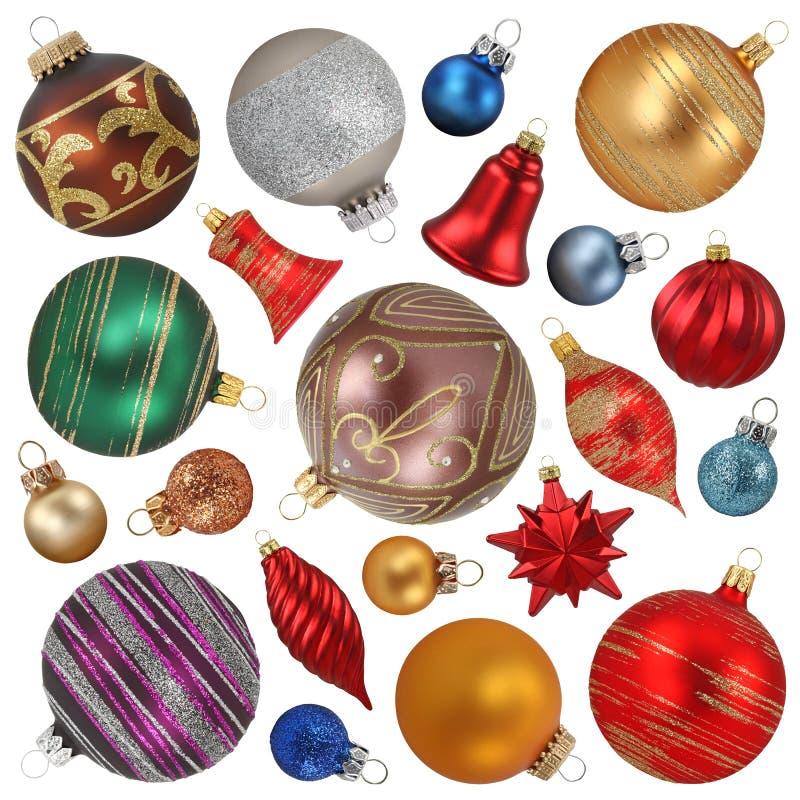 圣诞节收集装饰品 向量例证
