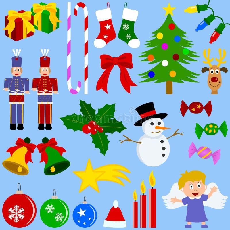 圣诞节收集要素 库存例证