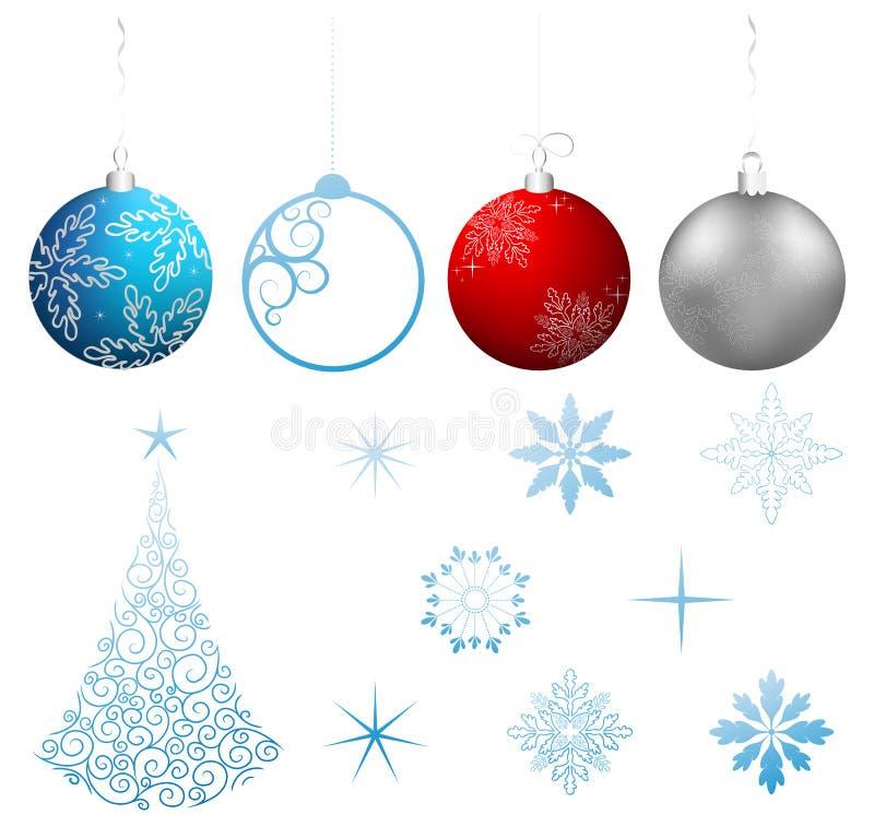 圣诞节收集设计要素向量 皇族释放例证