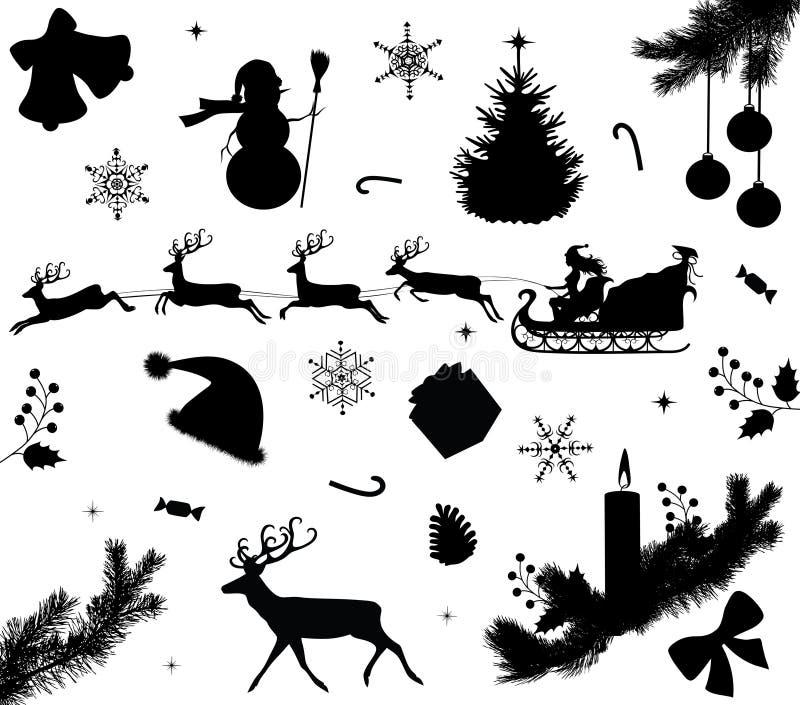 圣诞节收集 向量例证