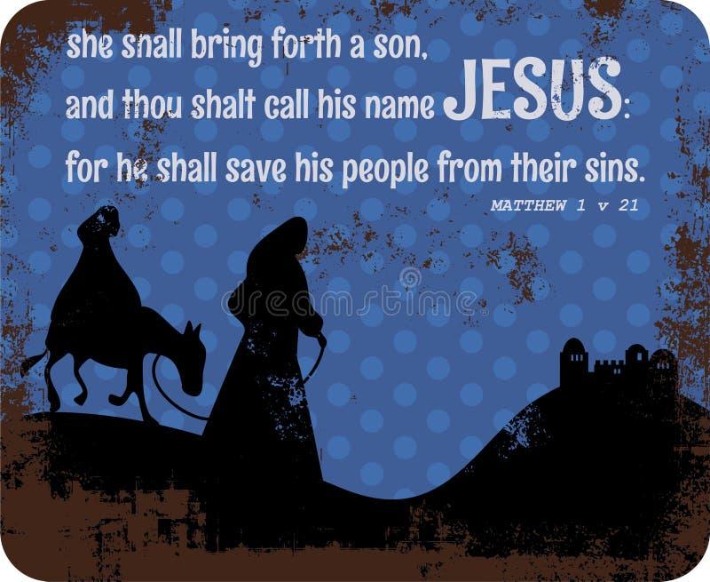 圣诞节故事标志 皇族释放例证