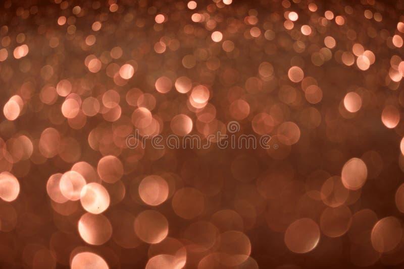 圣诞节新年情人节布朗闪烁背景 假日抽象纹理织品 元素,闪光 免版税库存图片