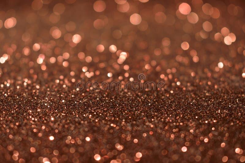圣诞节新年情人节布朗闪烁背景 假日抽象纹理织品 元素,闪光 免版税库存照片
