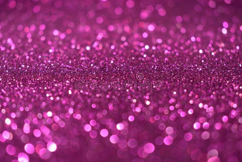 圣诞节新年情人节紫罗兰色桃红色闪烁背景 假日抽象纹理织品 元素,闪光 免版税库存照片