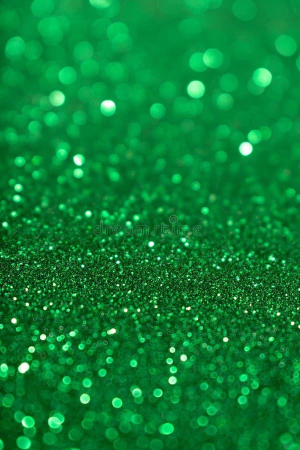 圣诞节新年情人节绿色闪烁背景 假日抽象纹理织品 元素,闪光 免版税库存图片