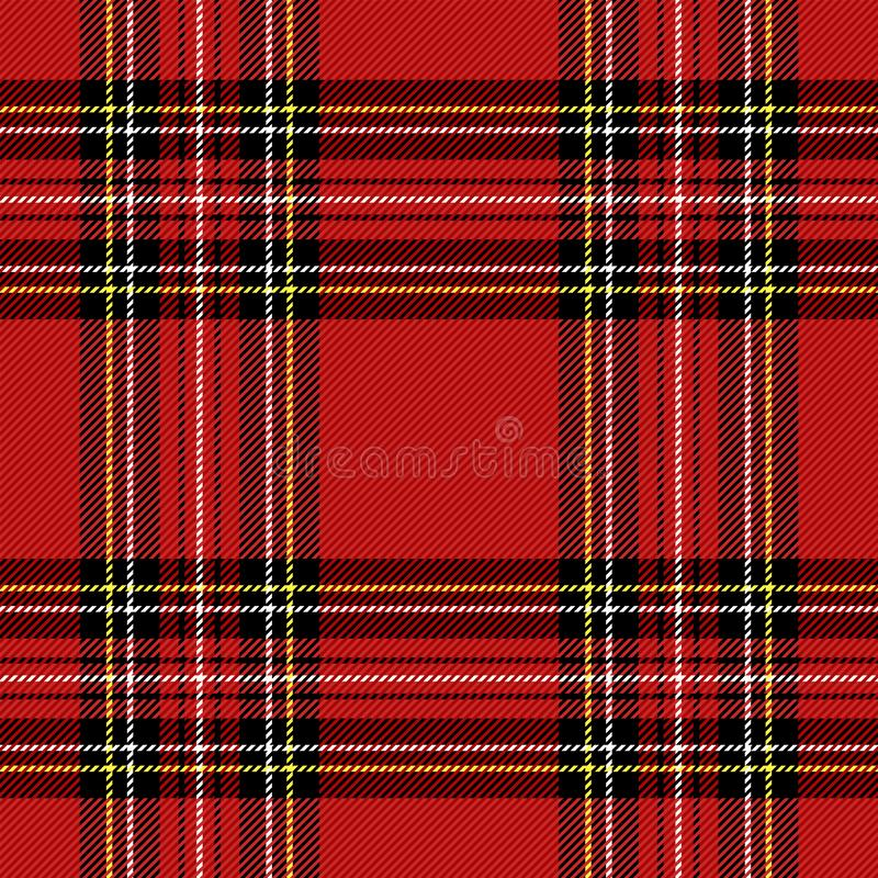 圣诞节新年格子呢 样式苏格兰人笼子 皇族释放例证