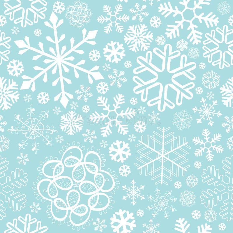 圣诞节新的模式无缝的雪花年 皇族释放例证
