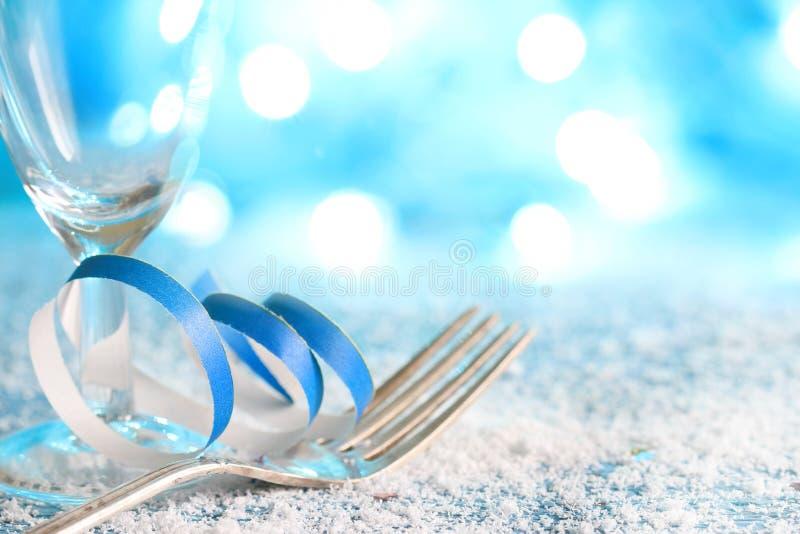 圣诞节新年冬天党食物菜单背景 免版税库存照片