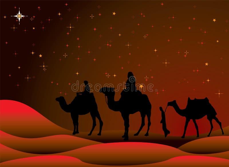 圣诞节旅途 皇族释放例证
