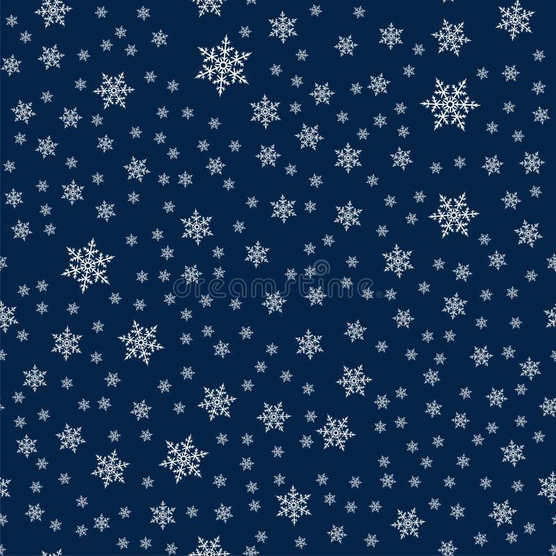 圣诞节无缝的样式有雪花抽象背景 圣诞节和新年时尚的假日设计打印 库存例证