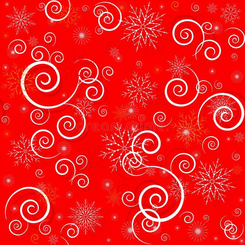 圣诞节无缝的红色样式 皇族释放例证