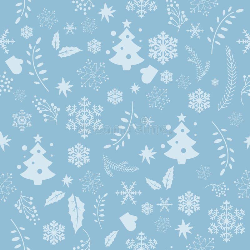 圣诞节无缝的纹理 库存例证