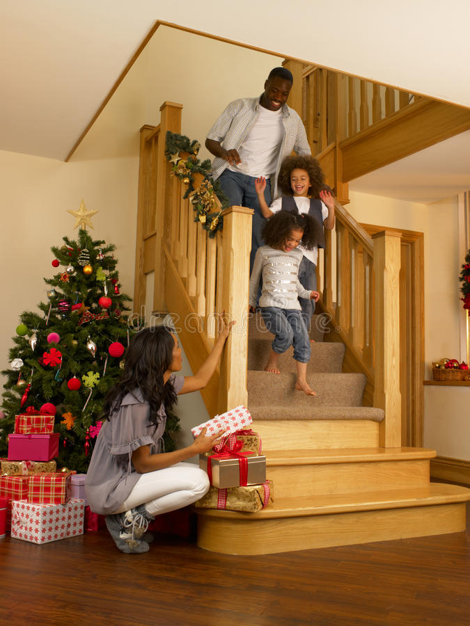 圣诞节早晨 免版税库存照片