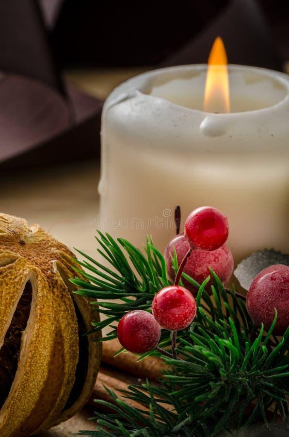 圣诞节时间和精神 库存图片