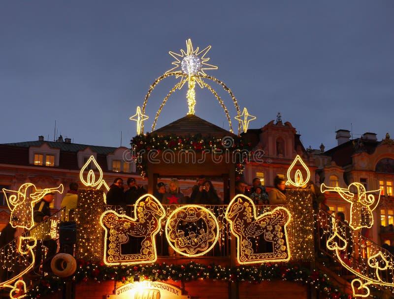 圣诞节时间,布拉格 库存照片