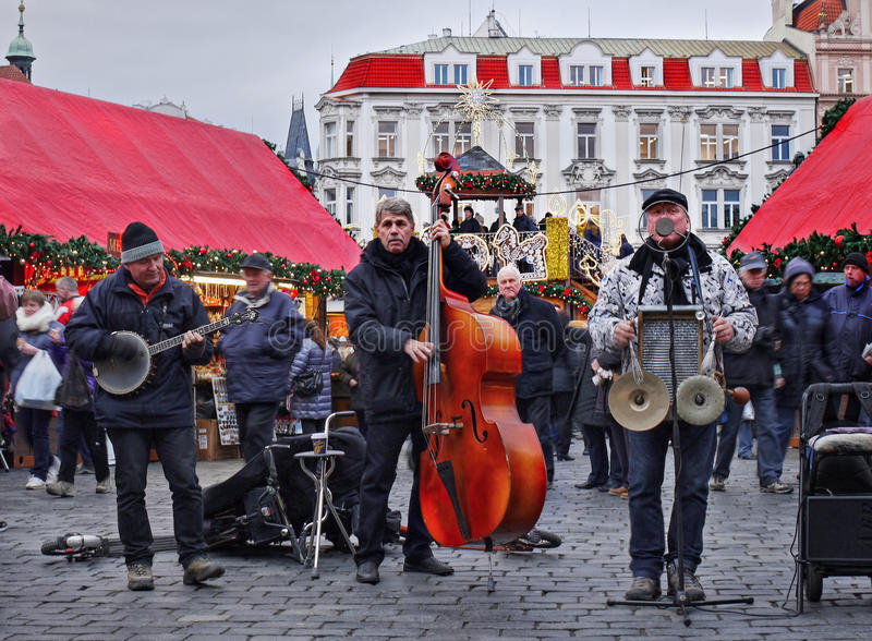 圣诞节时间,布拉格 免版税图库摄影