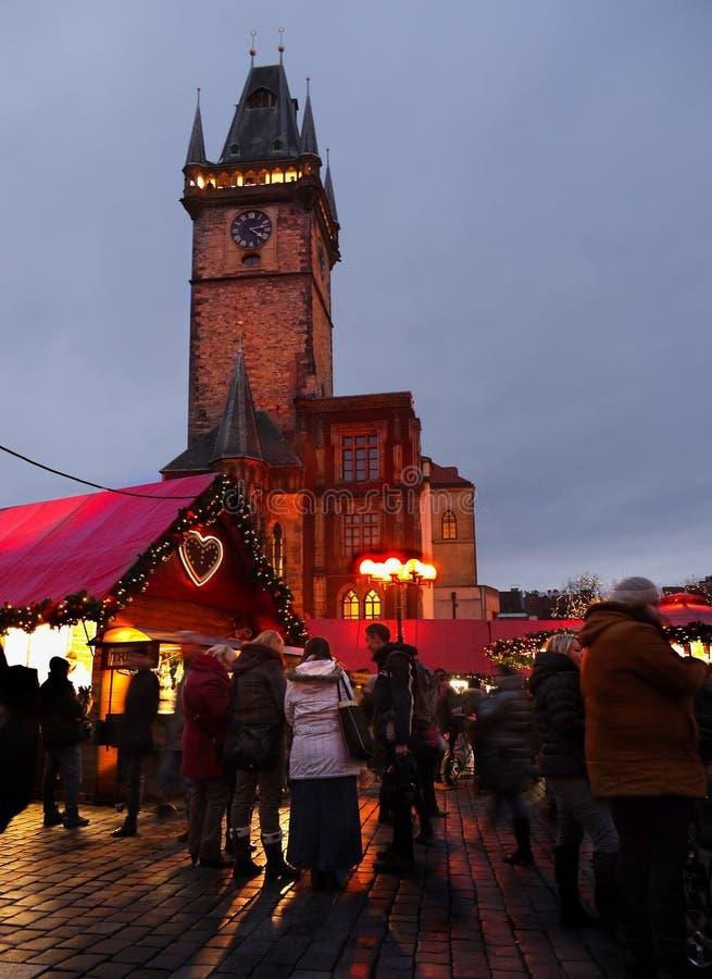 圣诞节时间,布拉格 免版税库存照片