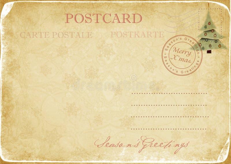 圣诞节明信片葡萄酒 向量例证
