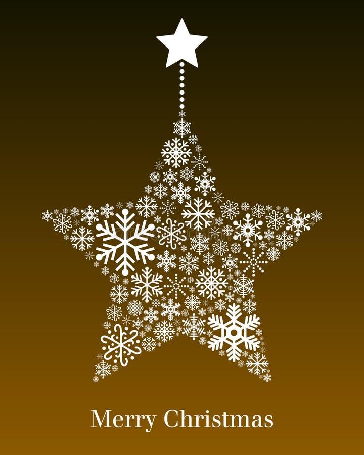 圣诞节星形贺卡 向量例证