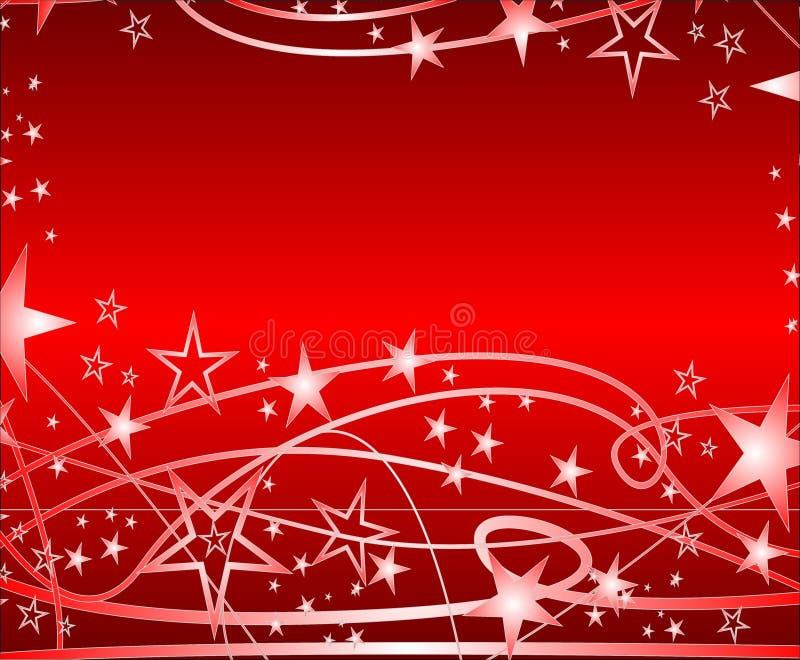 圣诞节星形 库存例证