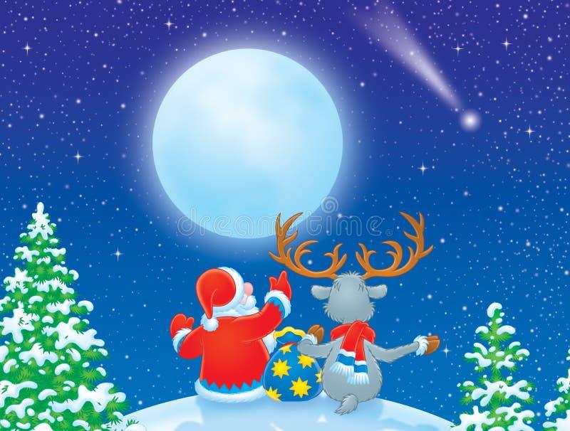 圣诞节星形 向量例证