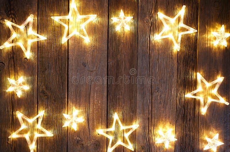 圣诞节星背景明信片葡萄酒 库存照片