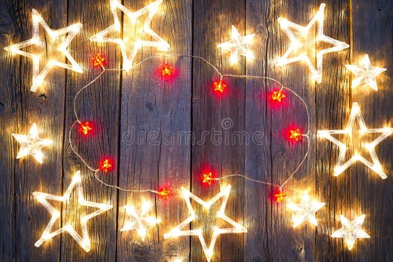 圣诞节星背景明信片葡萄酒 库存图片