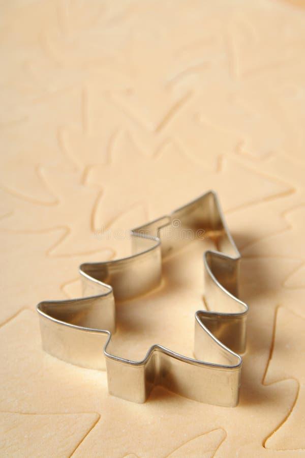 圣诞节曲奇饼切割工结构树 库存照片
