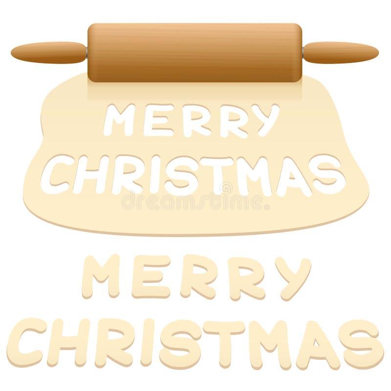 圣诞节曲奇饼删去了饼干 皇族释放例证
