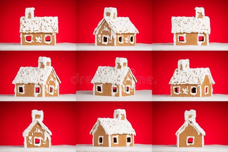 圣诞节曲奇饼华而不实的屋雪 图库摄影