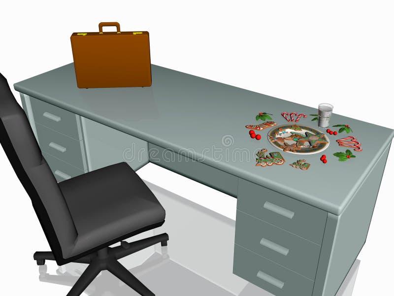 圣诞节曲奇饼服务台办公室 向量例证