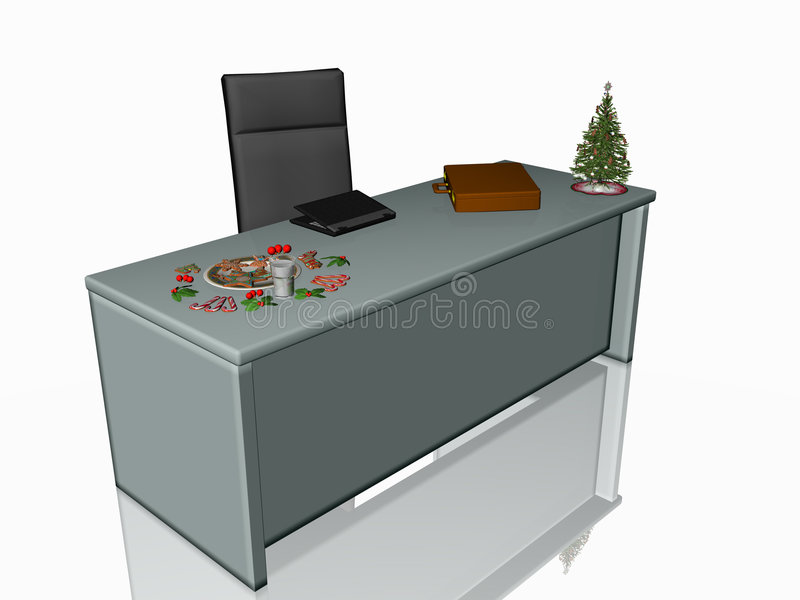 圣诞节曲奇饼服务台办公室 库存例证