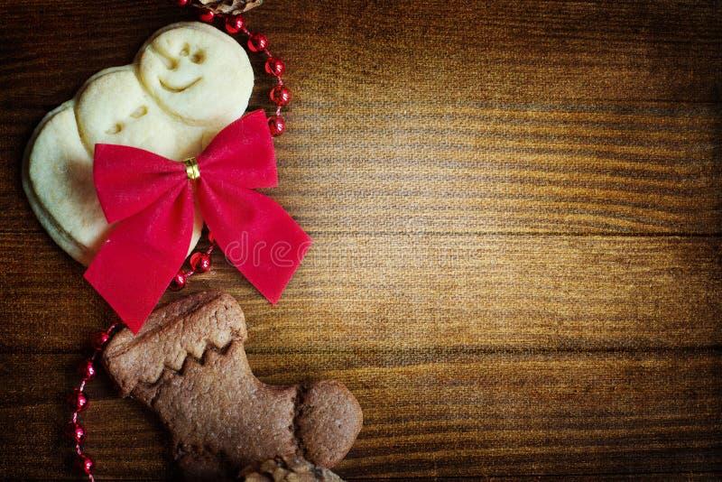 圣诞节曲奇饼板 免版税库存图片