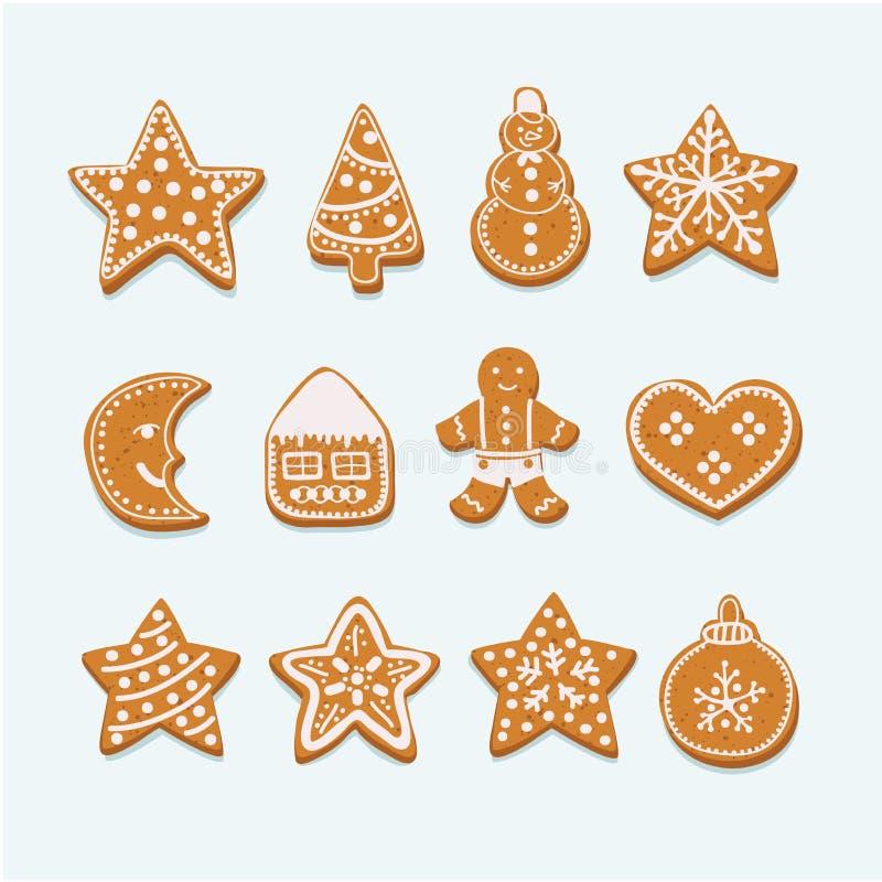 圣诞节曲奇饼汇集形象 皇族释放例证