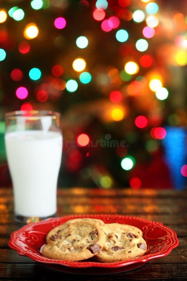 圣诞节曲奇饼牛奶 图库摄影