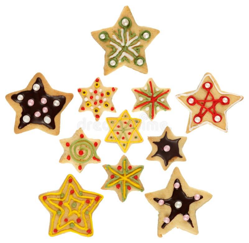 圣诞节曲奇饼装饰了手工制造 免版税库存照片