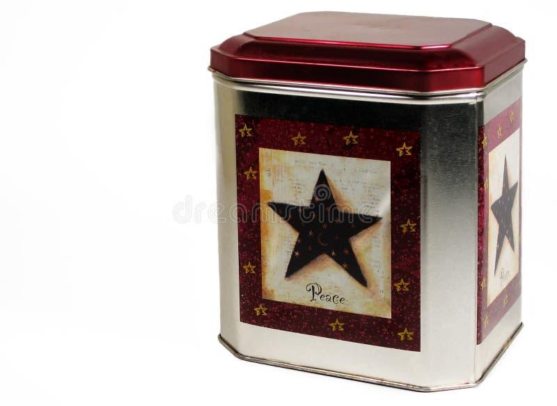 圣诞节曲奇饼锡 免版税库存照片
