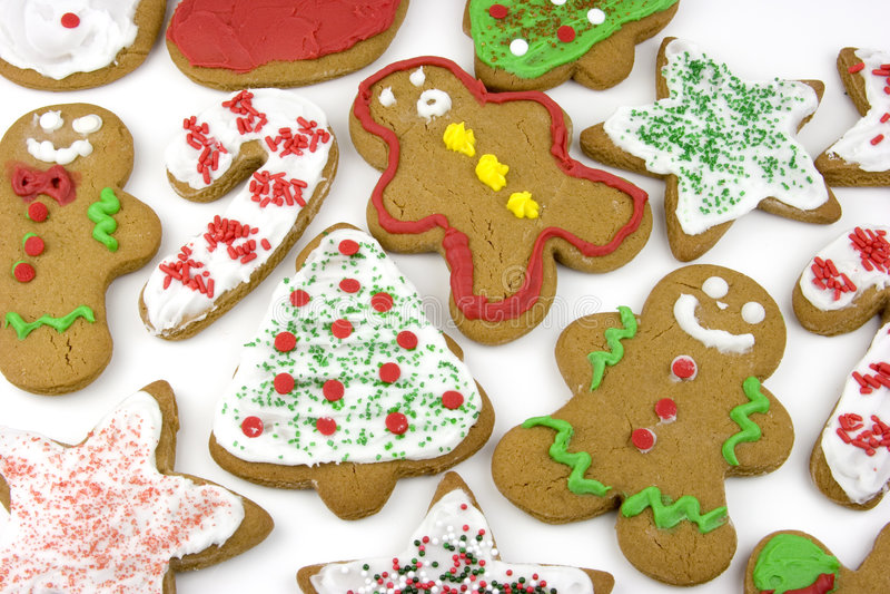 圣诞节曲奇饼 库存图片