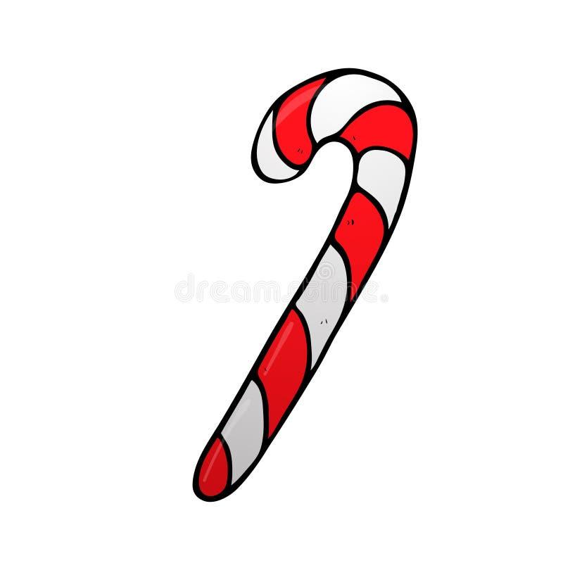 圣诞节有条纹象的薄荷糖藤茎 皇族释放例证