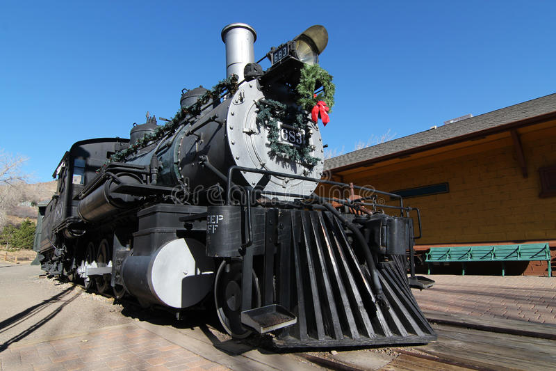 圣诞节机车 免版税库存图片