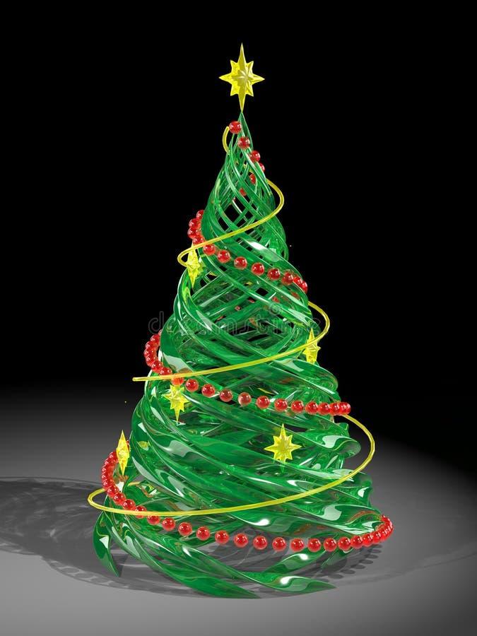 圣诞节杉木回报了风格化结构树 库存例证