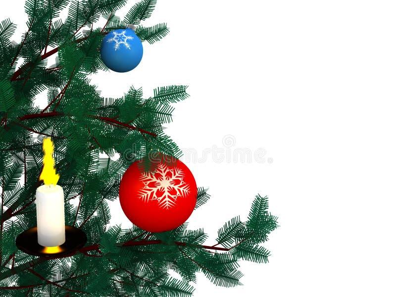 圣诞节杉木 库存例证