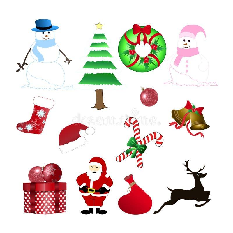 圣诞节材料装饰 库存例证