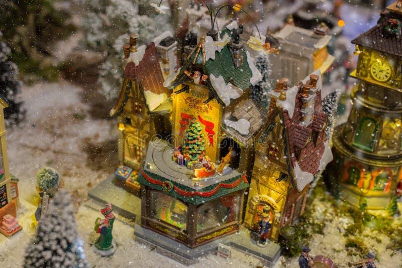 圣诞节村庄细节  免版税图库摄影