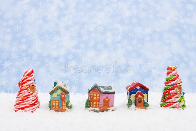 圣诞节村庄 免版税库存照片