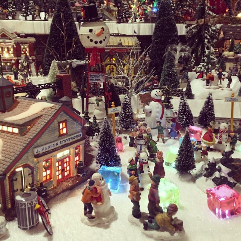 圣诞节村庄 免版税图库摄影