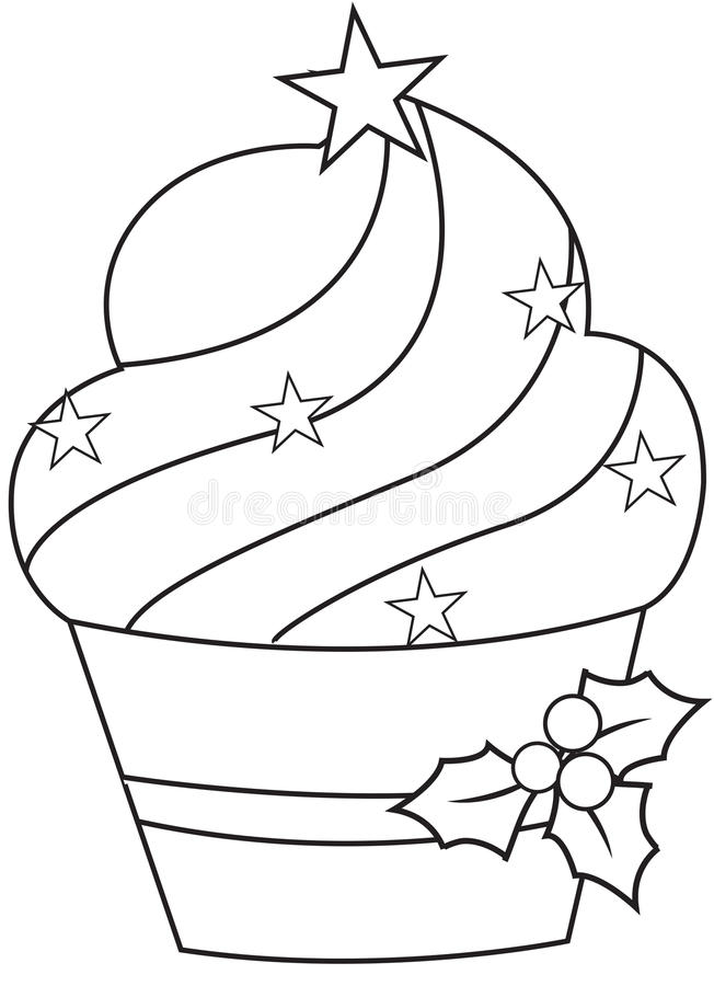 圣诞节杯形蛋糕 皇族释放例证