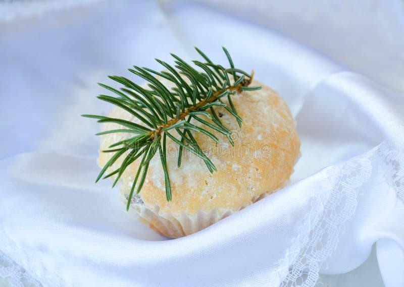 圣诞节松饼 免版税库存照片