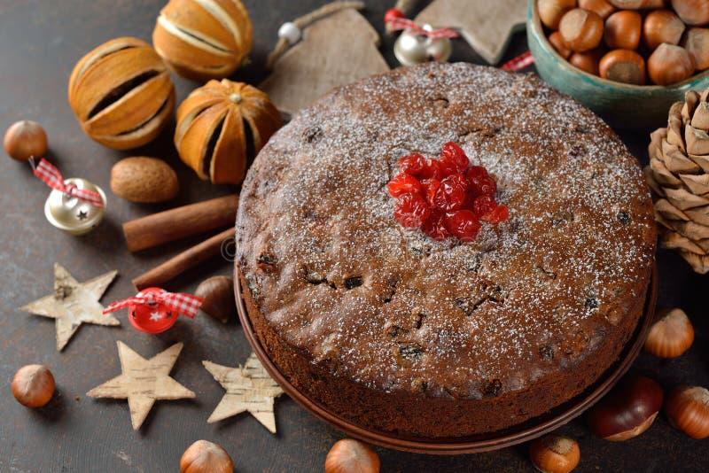 圣诞节果子蛋糕 图库摄影