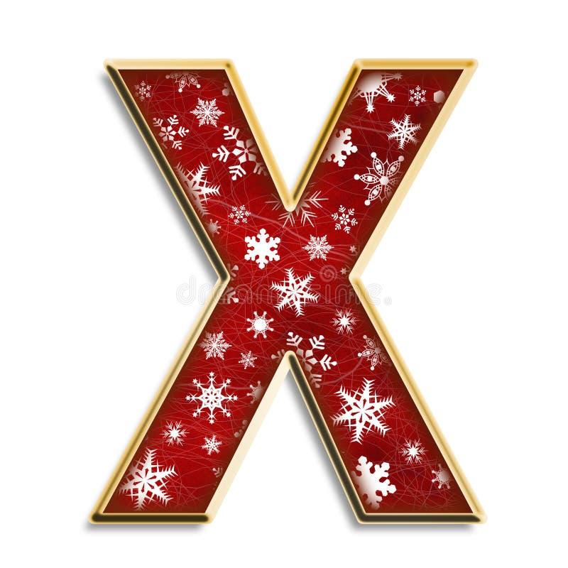 圣诞节查出的信函红色x 向量例证